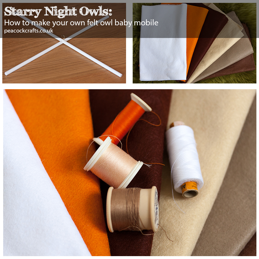 Starry Night Owl Mobile Materials