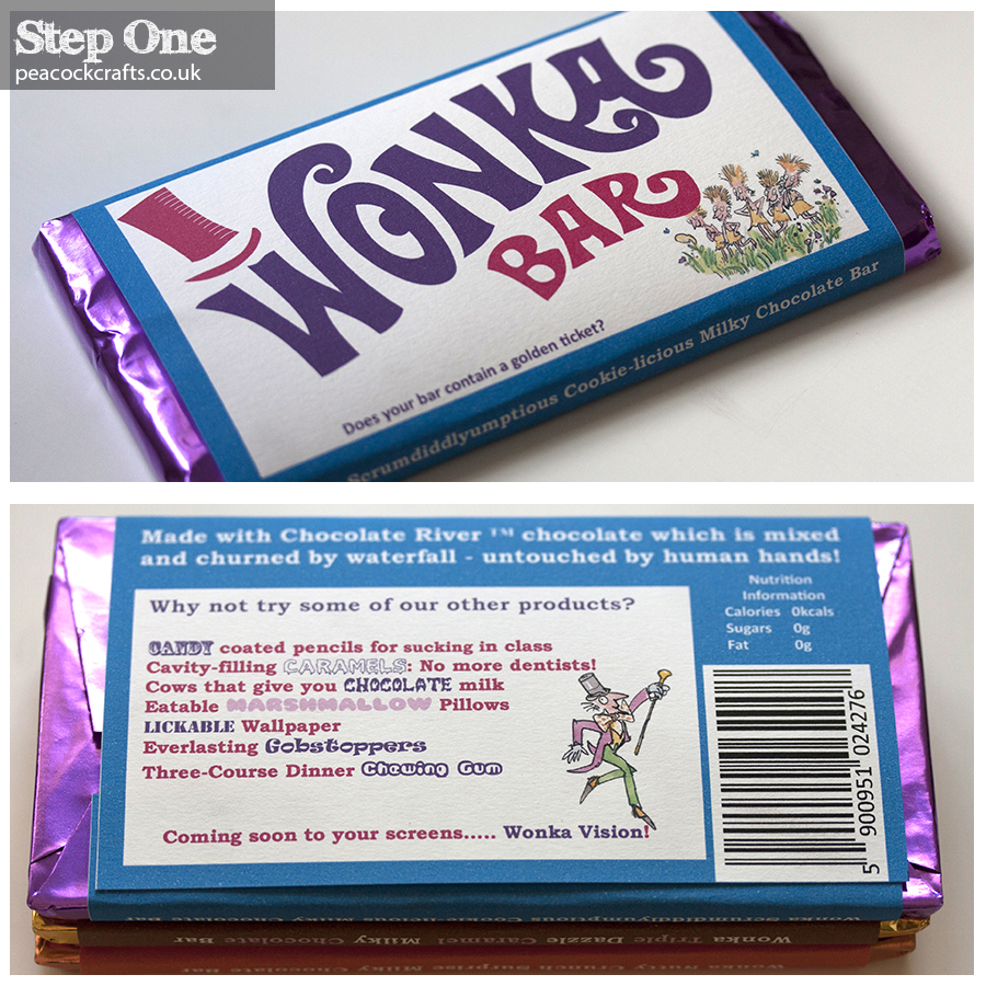 Wonka Bar Invitations